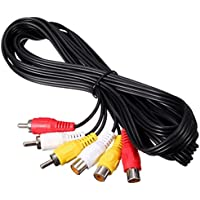 5m 3 RCA Male to Female Plug Splitter Audio Video AV Adapter Extension Cable DVD