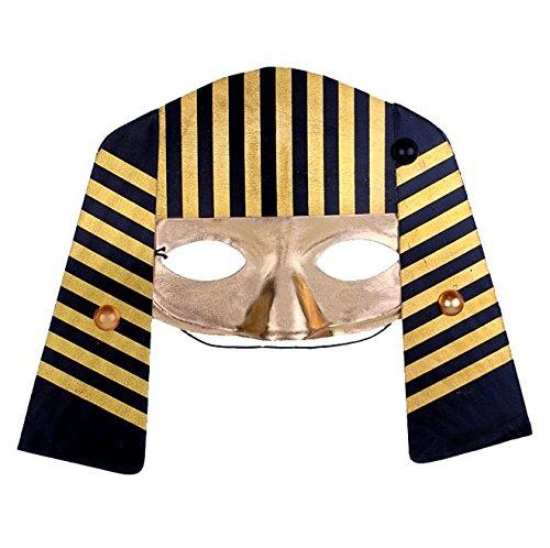 Halloween Egyptian pharaoh dressup cosplay masquerade half face -