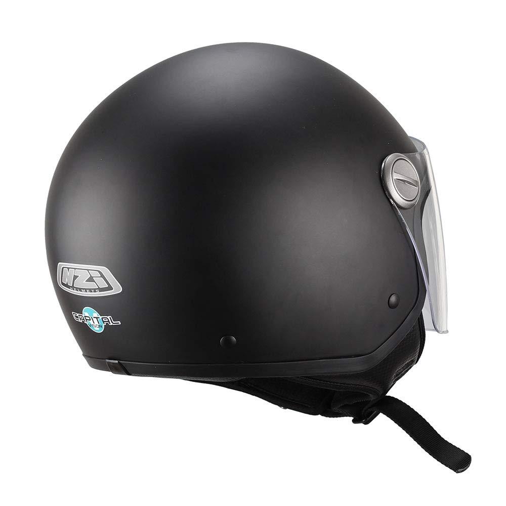 Talla XL NZI 150263G067 Capital Visor Casco de Moto 60 Color Negro Mate