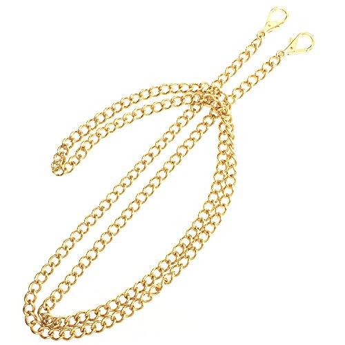 [해외]ONBLUE 47 지갑 교체 체인 골드 도금 음색 8MM 클러치 지갑 용 메탈 체인 숄더 크로스 바디 백/ONBLUE 47  Purse Replacement Chain Gold Plating Tone 8MM Metal Chain for Clutch Wallet Shoulder Crossbody Bag