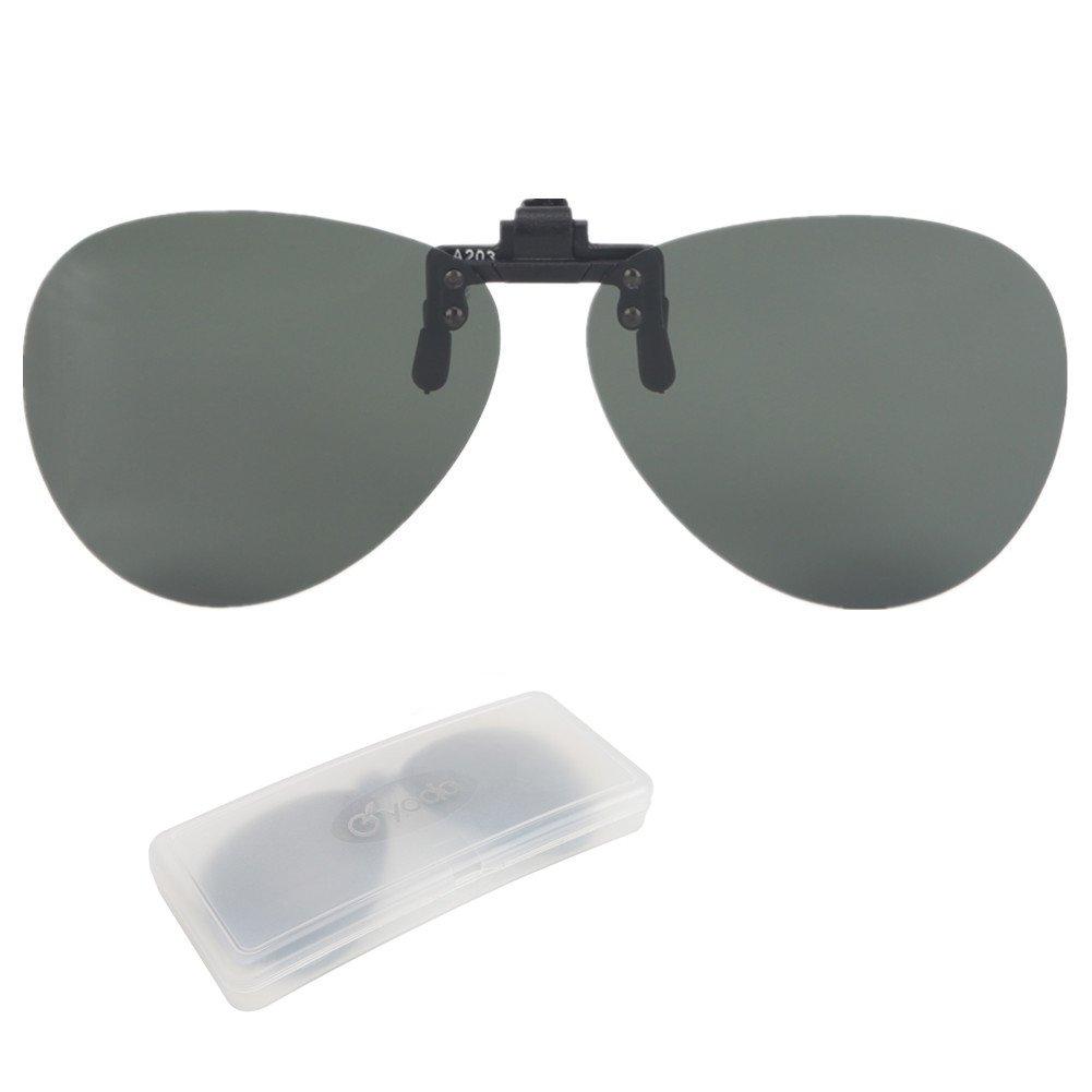 【T-ポイント5倍】 Yodo偏光フリップアップクリップオンサングラスover処方眼鏡メンズレディースDriving釣りアウトドアスポーツ B07CV6PWTZ B07CV6PWTZ Upgraded Gray - aviator Gray Upgraded Gray aviator - aviator, 名入れボールゴルフギフトゴルゴル:f9645fcf --- brp.inlineteambrugge.be