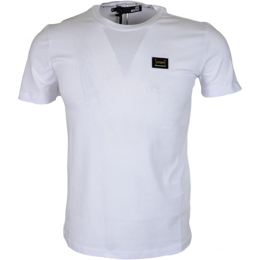 MOSCHINO M473182E1811 Love Slim Fit White T-Shirt S White