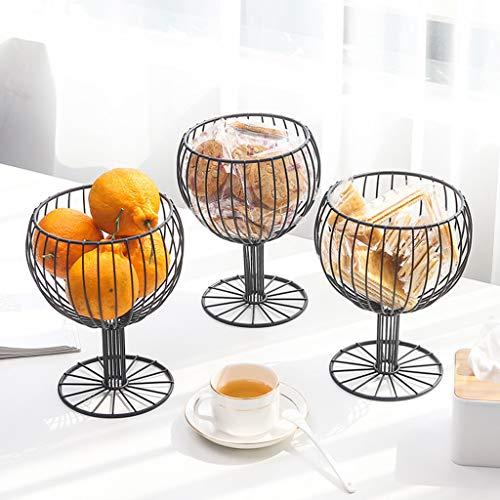 FAERIE Wine Glass Wrought Iron Snack Storage Basket