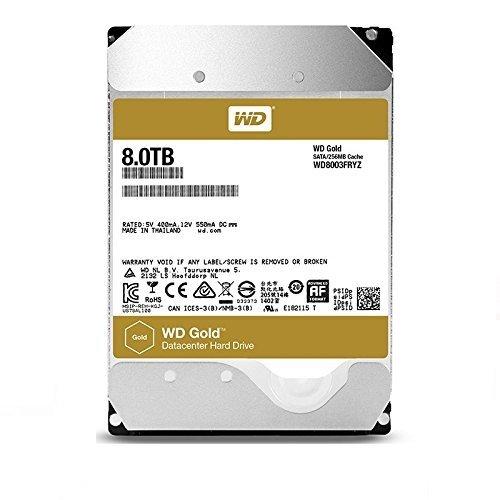 WD Gold 8TB Enterprise Class Hard Disk Drive - 7200 RPM Class SATA 6 Gb/s 256MB Cache 3.5 Inch - WD8003FRYZ