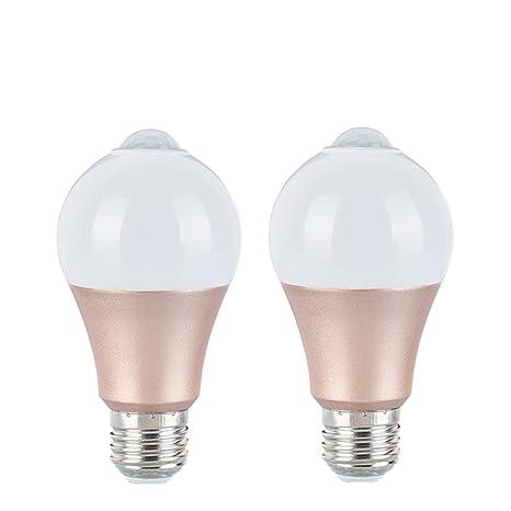9W E27 Luz Blanca Sensor de movimiento Bombilla Sensor inteligente Bombilla LED con PIR Detector de