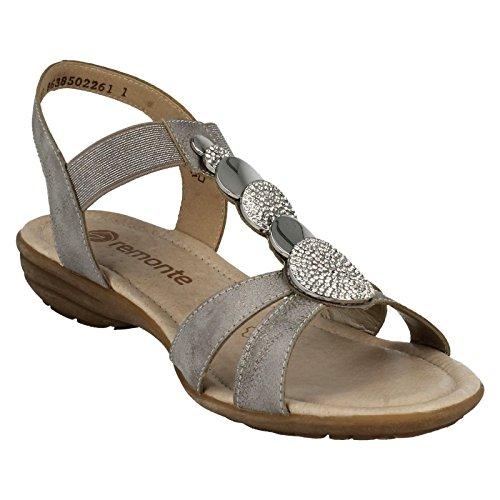 Sandali 6 Sintetico T Grigio 90 40 Noi Eu Dimensioni 5 Formato Ladies Casuali R3638 8 Remonte Dimensione Uk bar 5 gtSBxWq