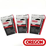 """3 Pack Oregon 16"""" Chainsaw Chain 3/8"""" Pitch 0.058"""" Gauge 60 Drive Links 73LPX060G"""