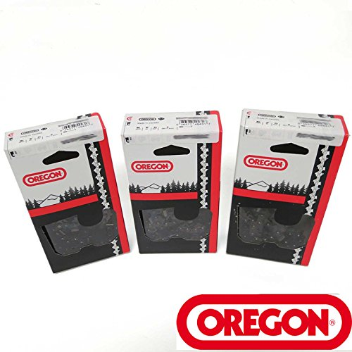 3 Pack Oregon 24 Chainsaw Chain 3/8 Pitch 0.058 Gauge 84 Drive Links 73LPX084G
