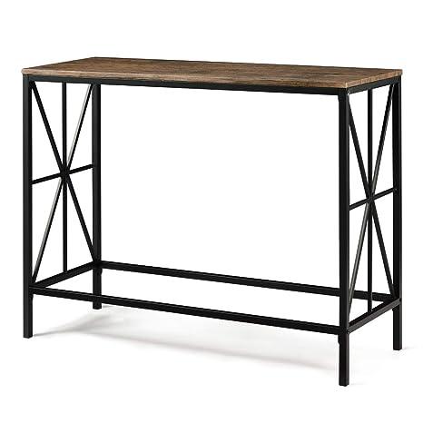 Aingoo Tavolino a consolle in Stile Industriale Tavolino da Ingresso ...
