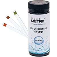 Water Hardness Test Strips - Quick and Easy Testing Kit with 50 Strips at 0-425 ppm | Calcium and Magnesium Total Hardness Test | Ideal for Water Softener Dishwasher Well Spa and Pool Water