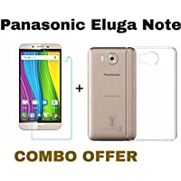 M.G.R Tempered Glass + Transparent Back Cover [Combo Pack] for Panasonic Eluga Note
