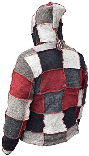 Maniche Grey Lunghe Little Red Giacca Kathmandu Uomo Patch 4qxYEvF