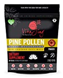 Organic Pine Pollen Powder Extract (2oz / 57gm) Raw Form, Pure Wild Harvested, 99 Percent Broken Cell Wall for Optimal Absorption and Potency (Up to 46 Servings)