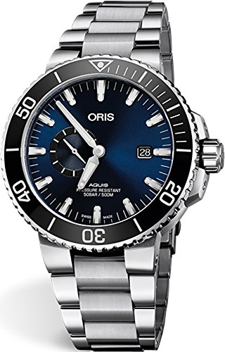 Oris Aquis Small Second, Date Blue Dial 45.5mm Stainless Steel Men's Watch