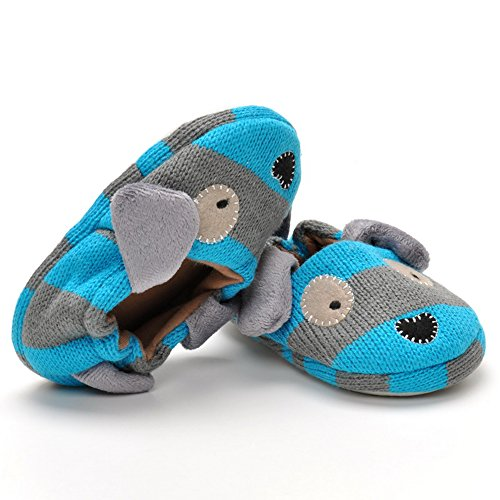 Pictures of Estamico Toddler Boys' Doggy Slipper Blue 4