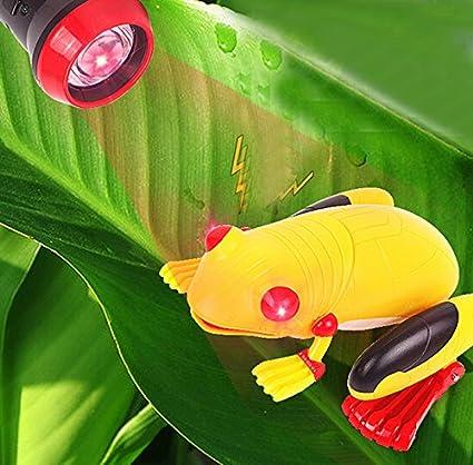 Color Random Giveme5 Light-sensor Remote Control Simulation Fake Frog RC Animal Toy Prank Christmas Holiday Gift Model