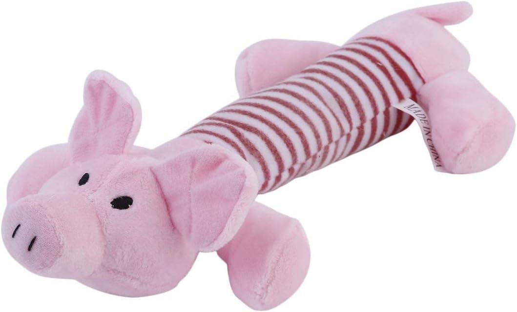 Lovely Dog Toys Pet Puppy Chew Squeaker Squeaky Plush Sound Duck 3 Juguetes de diseño de Formas de Animales Diferentes para Regalo/Rosa