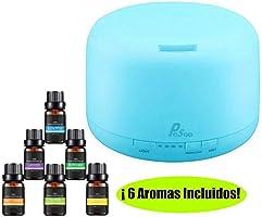 Difusor de Aceite Esencial - Pesoo 500ml Difusor de Aromaterapia de Aceite Esencial Humidificador Ultrasónico Grande...