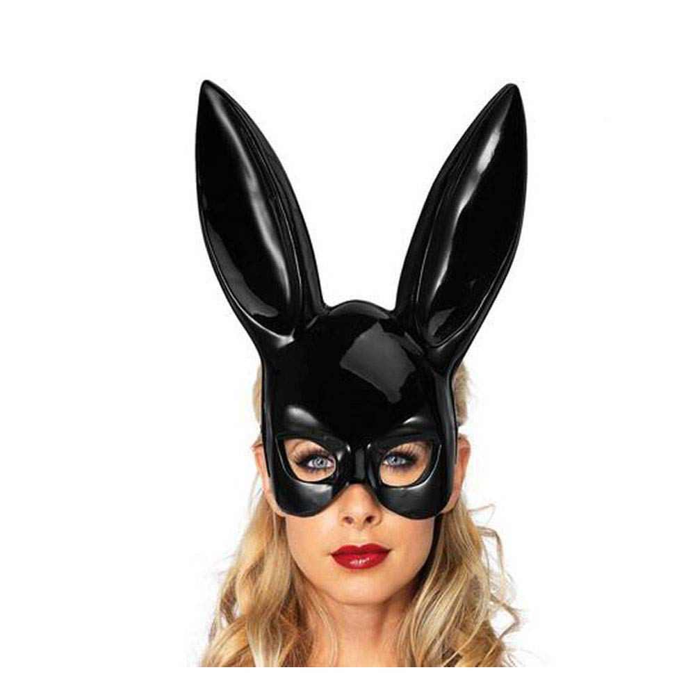 Masquerade Mask,Rabbit Ear Mask Exquisite Women's Costume Masks for Masquerade Ball, Simply Gorgeous! (Bunny Ears) Black by TVP