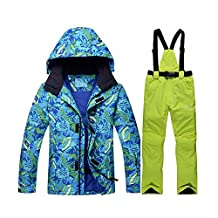 GSOU SNOW Men's Winter Ski Jacket Waterproof and Windproof Colorful SNowBoard Suit