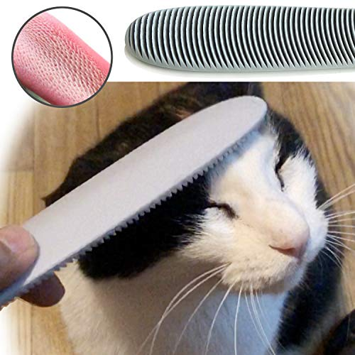 Blackhole Real Cat Tongue Textured Grooming Brush, Best Nurturing Brush for Kitten Dual-Ended Brush for Small and Large…