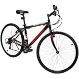 Murtisol Mountain Bike 26'' Hybrid Bicycle with Dual Disc Brake, Shimano 18 Speed Derailleur, Solid Frame,Adjustable Seat in 3 Colors