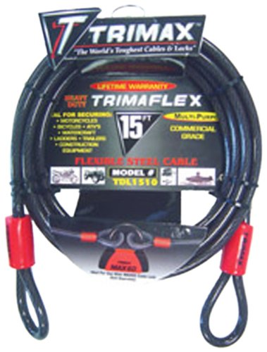 (Trimax TDL1510 Trimaflex 15' X 10mm Dual Loop Multi-Use Cable)