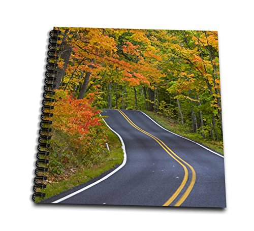 3dRose db_91155_2 Autumn, Highway 41, Copper Harbor, Michigan - US23 CHA0101 - Chuck Haney - Memory Book, 12 by 12-Inch