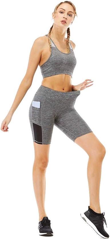 Conjuntos de Deporte Cintura Ancha Suave Mujer de Deportes Tenis Mujer Ropa Deportiva Camiseta Casual Camiseta y Pantalones Cortos Gym Yoga Workout: Amazon.es: Ropa y accesorios