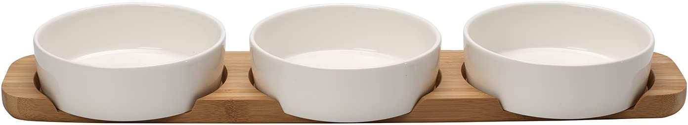 Pizza Passion 4 Piece Topping Bowl Set by Villeroy & Boch - Premium Porcelain - Made in Germany - Dishwasher and Microwave Safe Bowls - 18.75 x 4.25 x 2 Inches