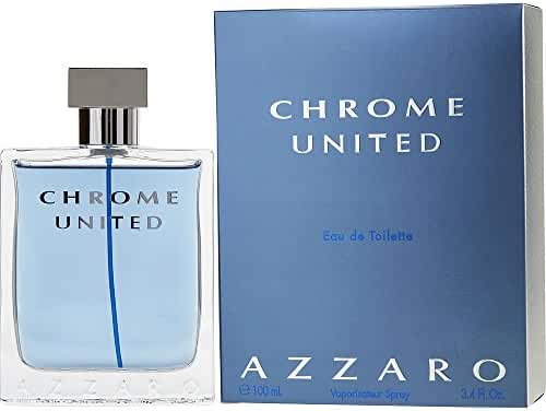 CHROME UNITED by Azzaro EDT SPRAY 3.4 OZ for MEN (Package Of 3)