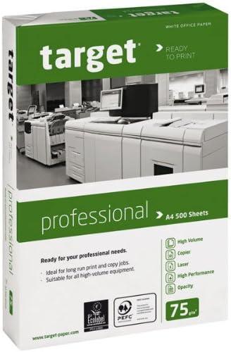 Target Professional Kopierpapier 75g/m² DIN-A4 500 Blatt Druckerpapier weiß