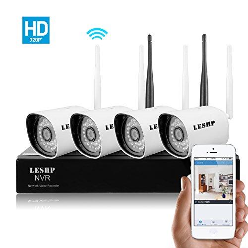 LESHP Wireless Security Surveillance Weatherproof