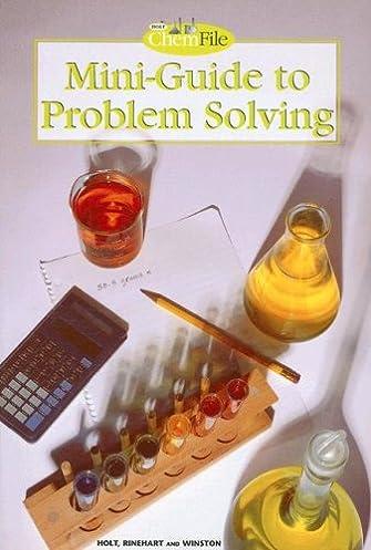 amazon com holt chemistry file mini guide to problem solving rh amazon com Holt Chemistry Study Guide Modern Chemistry Holt Rinehart