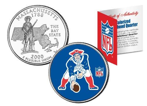 NEW ENGLAND PATRIOTS Retro Logo Massachusetts Quarter Coin Football NFL LICENSED