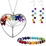 Best Hope Tree Wedding Ring Sets - Mikty Tree Of Life Crystals Pendant Necklace Bracelet Review