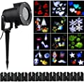 Halloween Christmas Projector Lights Outdoor Holiday Light with Switchable Pattern Lens) ,ZSL Garden Projector Laser Lights Led Landscape Spotlight for Holiday Party