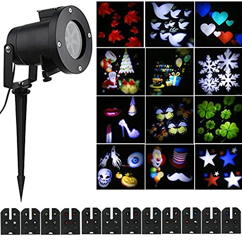 Halloween Christmas Projector Lights Outdoor Holiday Light with ...