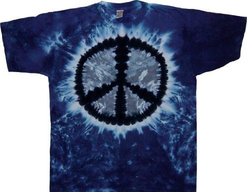 Tie Dyed Shop Pale Moon Peace Sign Tie Dye T (Peace Pale Sign)