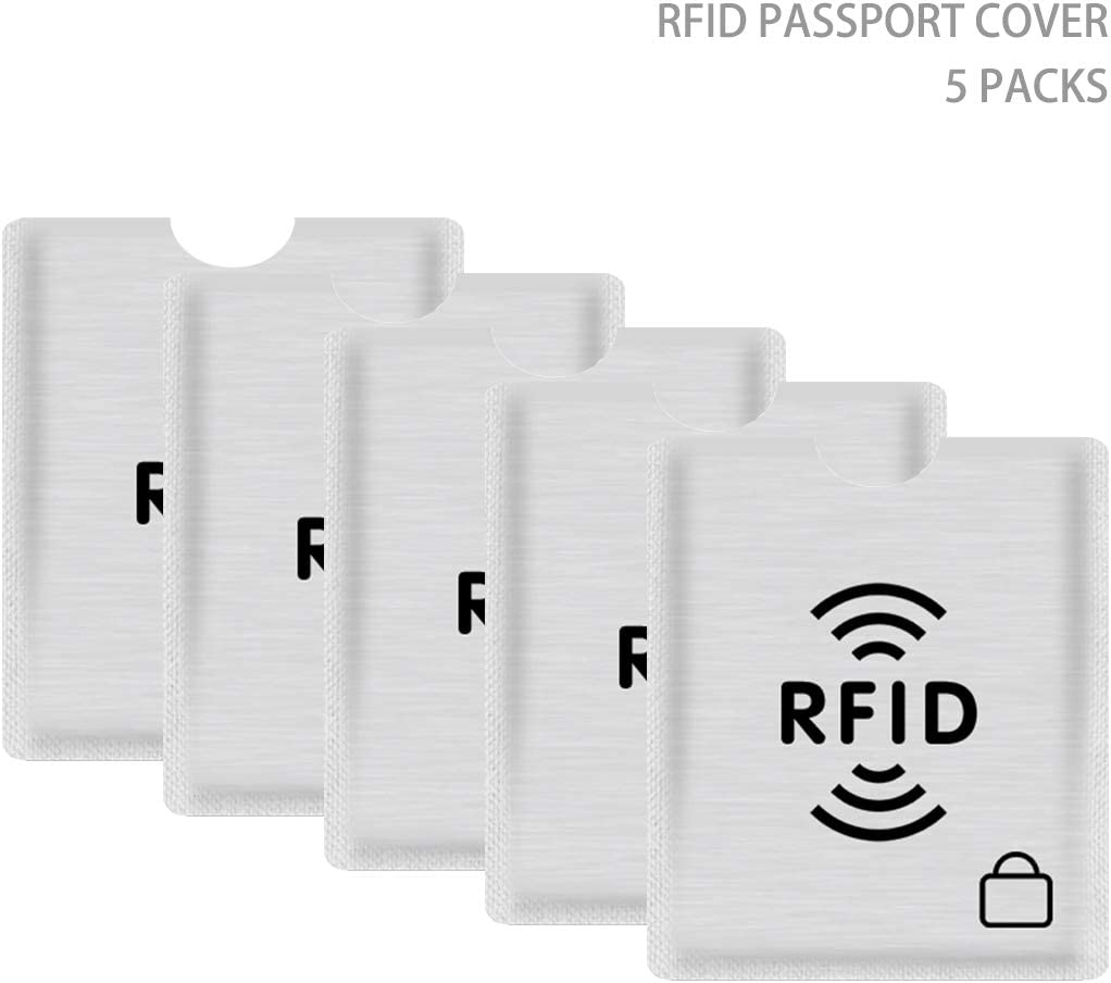 Smart Slim Design Card Covers fancyfree RFID Blocking Sleeves Passport Holder Puerse Perfect for Wallet 10 Packs-Silver Card Covers Identity Theft Prevention RFID Credit Card Holders