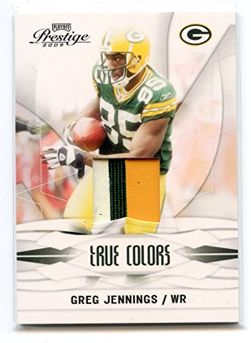 2009 Playoff Prestige True Colors Materials #1 Greg Jennings Packers Jersey /100