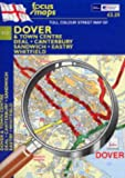 Full Colour Street Map of Dover: Town Centre - Deal - Canterbury Sandwich - Eastry - Whitfield