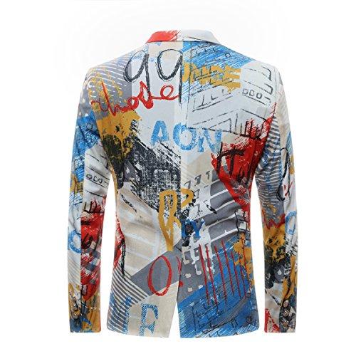 Jacket Dessin Blazer Veste Costume De Blouson Homme nAX8P1