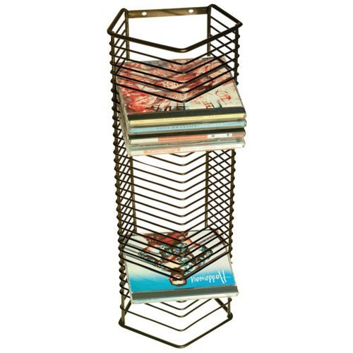 ATL1209 - ATLANTIC 1209 Onyx 35-CD Wire Storage Tower by Atlantic by Atlantic
