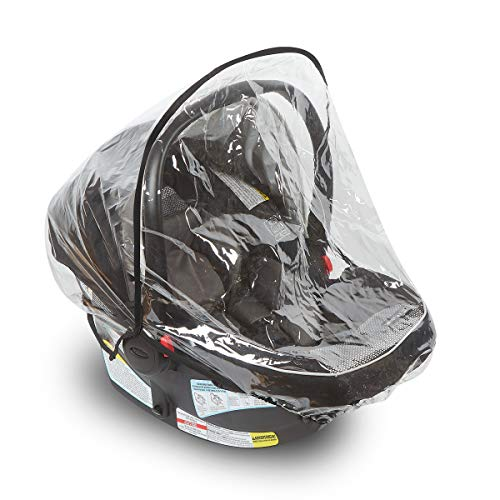 Car Seat Rain Cover - Universal Vinyl Weather Shield Fits Doona, Graco, Maxi COSI and Most Infant Carriers- Reinforced Binding, Ventilation Holes - Waterproof, Snow and Dust Proof - by Bedford Baby