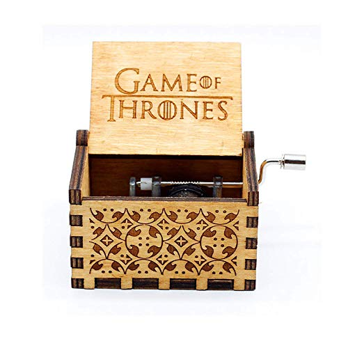Dream Loom Wooden Music Box,Hand Crank Classical Carved Wooden Game of Thrones Musical Box,Gift for Kids,Family and Friends (Wood)