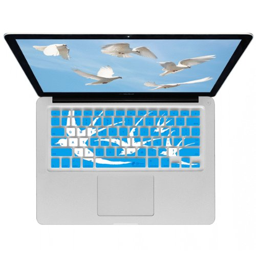 KB Covers Doves Keyboard Cover for MacBook, 13-Inch MacBook Air, and MacBook Pro (Unibody) - Blue (Doves-MW-Blue)