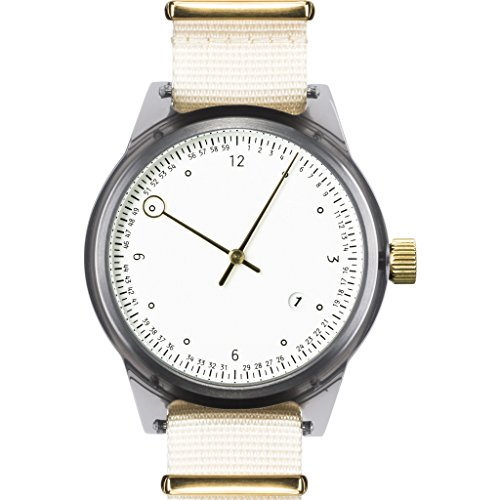 Squarestreet SQ03 Minuteman Two Hand Off-White Watch - Grey/Beige NATO
