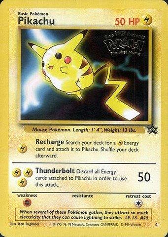 Movie Promo Card - Pokemon - Pikachu (4) - Wizards Black Star Promos