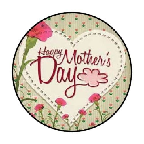 HAPPY MOTHERS DAY STICKERS set of 48 Each has a diameter of 1.2 in. (Option 8) MOTHERS DAY STICKERS IN BULK ()